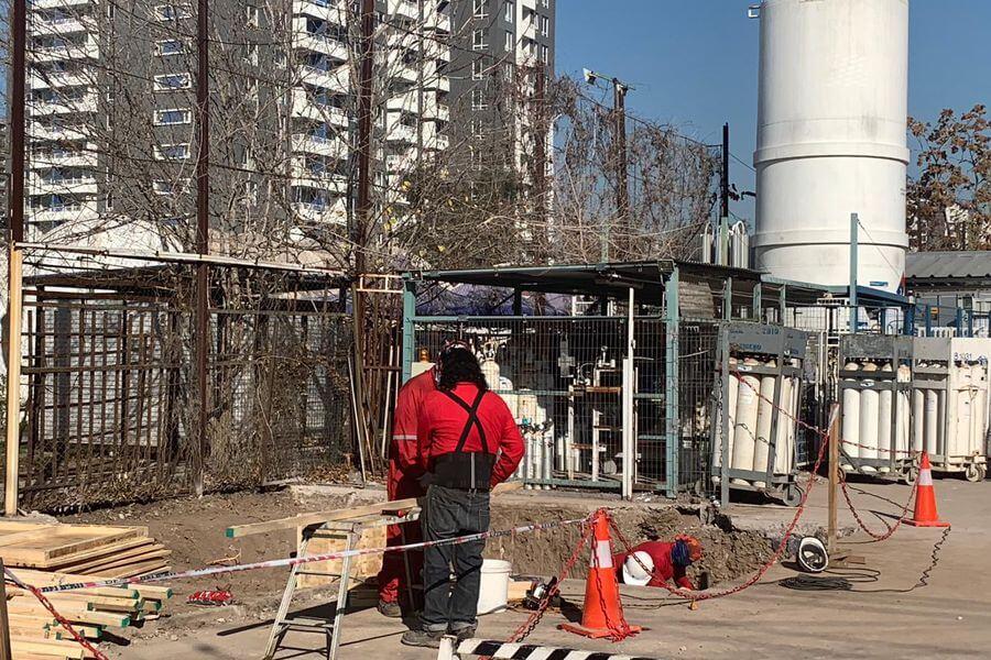 Instalación de un segundo estanque de oxígeno en el Hospital Barros Luco